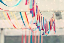 Parties - Hanging Things / A collection of colorful and amazing hanging party decor.  / by Fabric Paper Glue