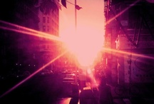 PINK NYC <3 / I want to go to NYC!! The buildings and the lights and the craziness! It's all so Beautiful! / by Rachel Clements