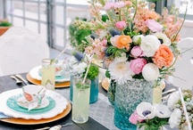 Table Settings / Beautiful table settings, flowers, wedding ideas and pretty plates / by Courtney Hill :: Dishie Rentals