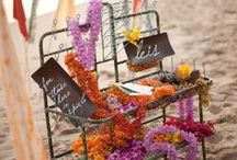 """Beach Weddings / Who doesn't love a good """"Beach"""" Wedding, with the sparkling blue ocean as a back drop, you can't go wrong. Go get some sand between your toes.. / by Stacey Jones-Wedding Designer"""