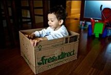 Getting Creative with FreshDirect Boxes / From cats to dogs to babies, we love that you have fun with our FreshDirect boxes! Keep sending pictures (@FreshDirect).  / by FreshDirect