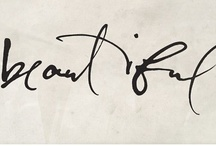 calligraphy / by Lotte-Marijn Millar