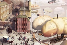 <>Steampunk: Illustration and Art / Visions from the world of Steampunk.  (Lots and lots of airships) / by Zack Collins