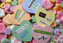 Conversation Heart Conversations / Valentine candy hearts ... not so tasty, but a definite tradition / by ThreeOldKeys