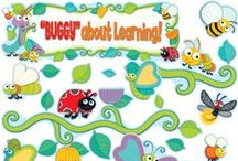 "Buggy For Bugs Classroom Decor / Your students will go ""buggy"" for learning colorful, adorable ""Buggy"" for Bugs decor for your classroom, home and more! Designed to work perfectly with Fresh Sorbet Classroom Coordinates.  / by Carson-Dellosa"