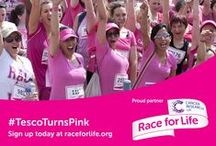 #TescoTurnsPink / Noticed anything different about us today? We've gone pink for #RaceForLife, and we'd love you to get involved. Sign up here http://tes.co/wumqAp  #TescoTurnsPink / by Tesco