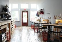 office / sewing / crafting / ebay space / by Emily Cross