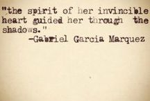 Gabriel Garcia Marquez / by Ness @ One Perfect Day