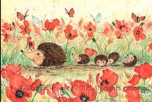 Egeltjes / Hedgehogs / by Juf Marita