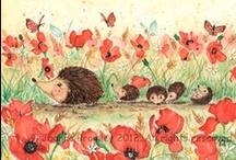 Egeltjes / Hedgehogs / by Juf Marita