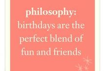joyful celebrations / birthdays are the perfect blend of fun & friends. join us as we celebrate our 17th birthday and life's little miracles. / by philosophy