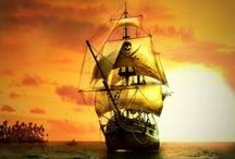 Ships, Sailing and the occasional Pirate! / This is a board for pics of tall ships, boats and pirates here and there.  / by Chaplain Debbie Mitchell
