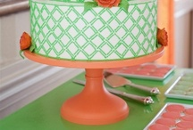 Coral Wedding Cake Stands / The most gorgeous cake designs on Sarah's Stands cake stands. / by Sarah's Stands
