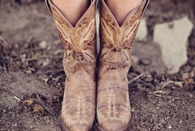In a country girl's boots.. / by Angie Jean