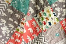 Nursery / Teal, turquoise, gray and coral girls nursery / by Jessica Bowe