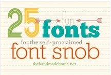 FONTS:) / by Karlee Markley