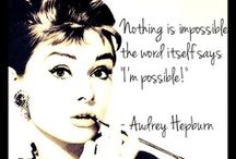 My Icon (Audrey Hepburn) / by Becky Thielbar