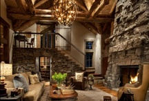 Cabin Fever / I've always wanted to own a little rustic cabin in the woods. Except I hate bugs and bears and I need running water and oh, how about a hot tub? So, what I need is a cabin like one of these beauties! / by Susan@CountryDesignHome