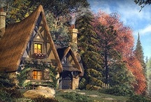 Charming Fairytale Cottages in Print   / No copyright infringement is intended. If you would like to be acknowledged or have the picture removed, please let me know : I've always loved images of cottages, cabins, any type of abode...A dreamy cottage in the woods, a roaring fire in the fireplace... evokes such sweet thoughts of home. Who wouldn't want to curl up in their favorite spot & read, sipping hot chocolate...just relaxing in such a place ! I hope you enjoy the images of cottages I have found for this board. Welcome Home ~ <3 ~ / by Maggie Buchanan