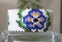 Beaded Spools and Tea lights Cover Pattern / by Bead-Patterns (Sova-Enterprises.com)