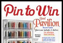 Pin to Win Contest (Giveaway) / https://www.facebook.com/events/488972044522065/ / by Bead-Patterns (Sova-Enterprises.com)