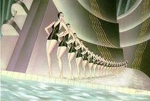 Illustration : Art Deco : 1920s-40s / by Stephanie Smith