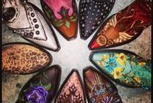 Made for Walk'n  / Boots, booties and Custom cowboy boots. Cowgirl boots and oxford booties. Wellies/ Rain boots  / by Dana Loraine