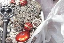 "By Dana Loraine  / Now on Esty  ""jeweledlid"" Jeweled Creations by Dana Loraine   Art/Sculpture/Assemblage   / by Dana Loraine"