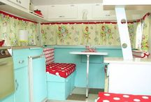 Trailer Redo / A mother-daughter project...restoring/decorating an old camp trailer. Turning something old into something spectacular! / by Leanna Beth