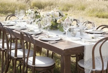 Setting the table / From dinner with friends, to romantic tête-à-tête, and party for a few lucky...  / by beSleek.com