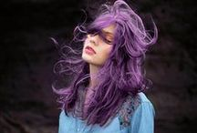 RAINBOW HAIR / My Little Pony hair... all the pinks, blues, greens and other hues! / by Zoe //Conversation Pieces//