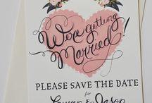 Save the Dates/Invitations / by Katie Mae Elliott
