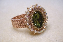 Beading - Rings / Beaded rings that were previously on my Beading board / by Kay Pucciarelli