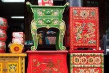 Rosemaling and Canalware / Kurbits in Swedish, Rosemaling in Norwegian, Tole painting in USA... canalware, narrowboatware... I really like things like these; useful objects, everyday tools and furniture, decorated, true folk art. / by Ketutar J.