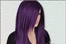 Hair - Purple, Plum & Burgundy / Purple Hair, hairstyles, and highlights...I would love to do some of these ideas to my hair once I no longer have to work...or have a job that would allow me to do this...I love purple it's my favorite color / by Stephanie Lackey