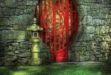 garden gates, fences, walls / by Mary Hobson