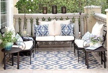 Safavieh Color Story: Blue / Create a patio worthy of a resort with Safavieh Courtyard rugs inspired by the Aegean sea & sky / by Safavieh Official