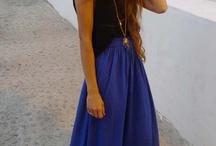 maxi skirts. ways to wear! / by Sofia