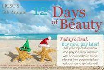 12+ Days of Beauty Deals 2013 - from LJCSC / Often imitated but never equaled - La Jolla Cosmetic Surgery Centre brings you a month of beauty deals each December, Here are the deals for 2013... Check out our website for more: http://www.ljcsc.com/plastic-surgery-specials-and-seminars / by La Jolla Cosmetic Surgery