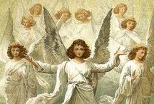 Angels / For he shall give his angels charge over thee, to keep thee in all thy ways. - Psalms 91:11 KJV  -    Related boards: Catholic Faith, Holy Mary Mother of God, Beloved Saints, and Religious Art. / by Lisa Ann Deeter