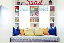 Book Nook, Spaces and Places / We're a library, therefore, we love books! Finding a place to store them is a different matter. So many choices, so little space to store them all!  / by Clearwater Public Library System