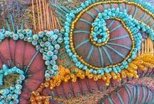 Fiber Arts:  Embelishments / Embroidery, stump work, ribbon work, smocking, beading, applique / by Eve Carson