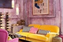 """Yellow & Pink Expressions / SUNNY AND VIBRANT, BUT IT""""S NOT FOR EVERYBODY / by Valentina Interiors & Designs"""