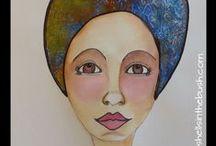 Art - girls/women/faces / by Michelle ShellsintheBush