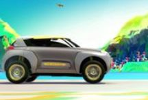 Renault Kwid concept car / KWID CONCEPT, a concept car unveiled at the Delhi Auto Show, highlights both Renault's commitment to new markets, such as India, as well as the company's ability to produce appealing products in the compact car segment. The vehicle's robust, yet fun design, along with its technology-driven features, is targeted at meeting the needs of young customers in these markets. / by Renault Official