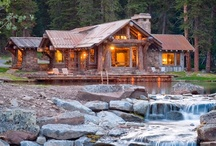 Rustic~Country Log Homes,Cabins & Reclaimed Barns / by Sharon Hagel