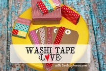 Washi tape LOVE / by SewLovelyCupcake - Kristen