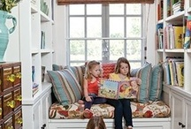 Nooks, Books and Designs / Nooks, books and designs are for people who like to find a quiet nook to read a book. I also included my love of the new bunk house designs which create nooks.   / by Miriam Terry