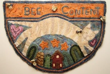 I'm hooked. / Primitive rug hooking.  / by Joan Cunnings