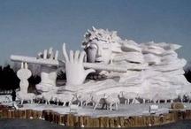 Art-Ice, Snow and Sand Sculpture / Creativity using the mundane / by Arlene Allen